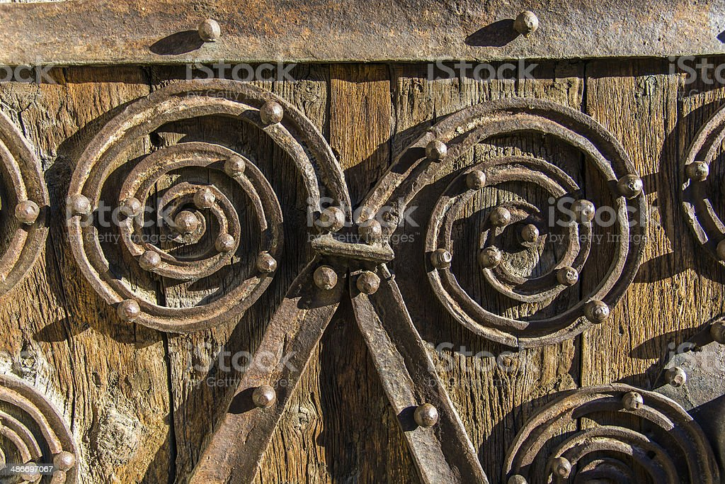 the wrought iron stock photo