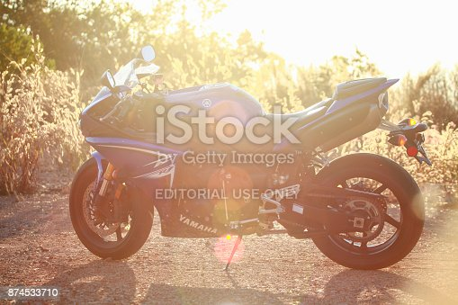 istock The Yamaha R1 Motorbike at the countryside. 874533710