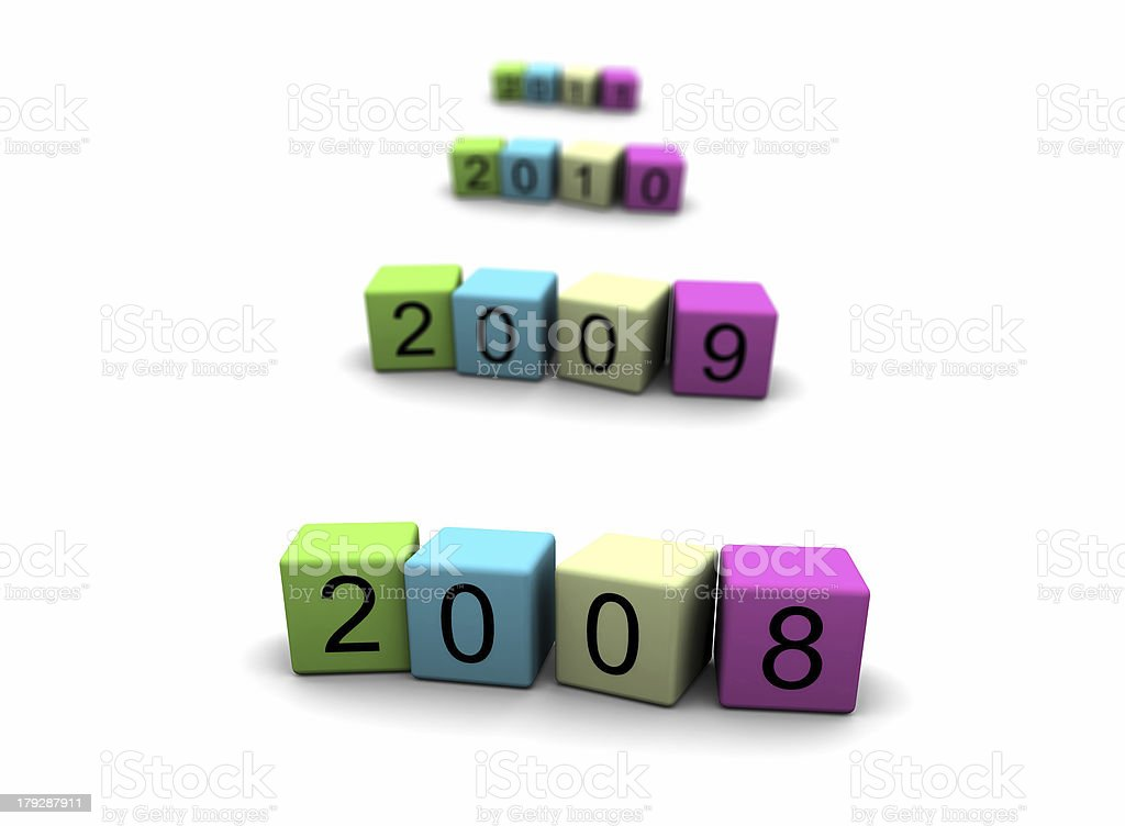 the year 2008 royalty-free stock photo