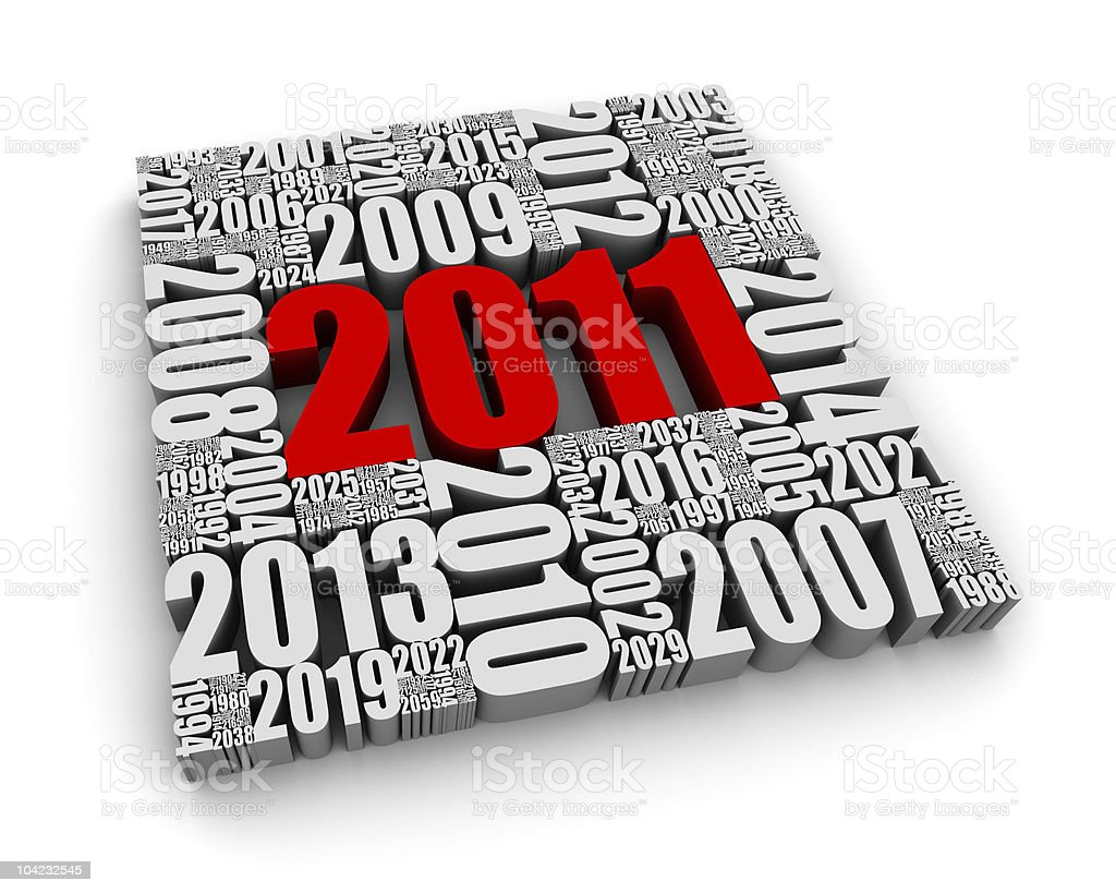 The Year 2011 stock photo