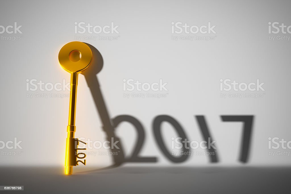 The year 2017. stock photo