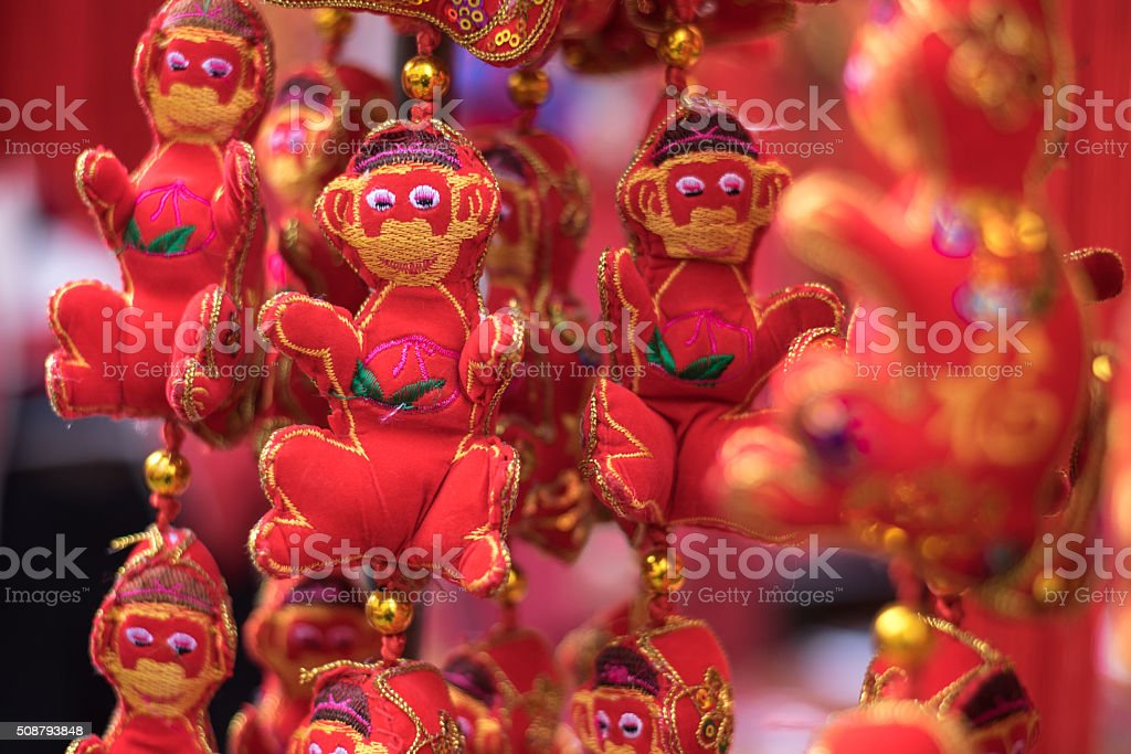 The Year of the Monkey stock photo