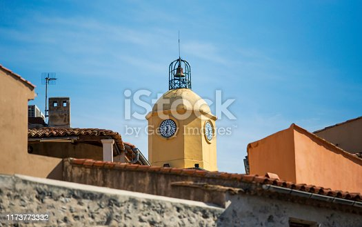 Detail of a bell tower in Saint Tropez