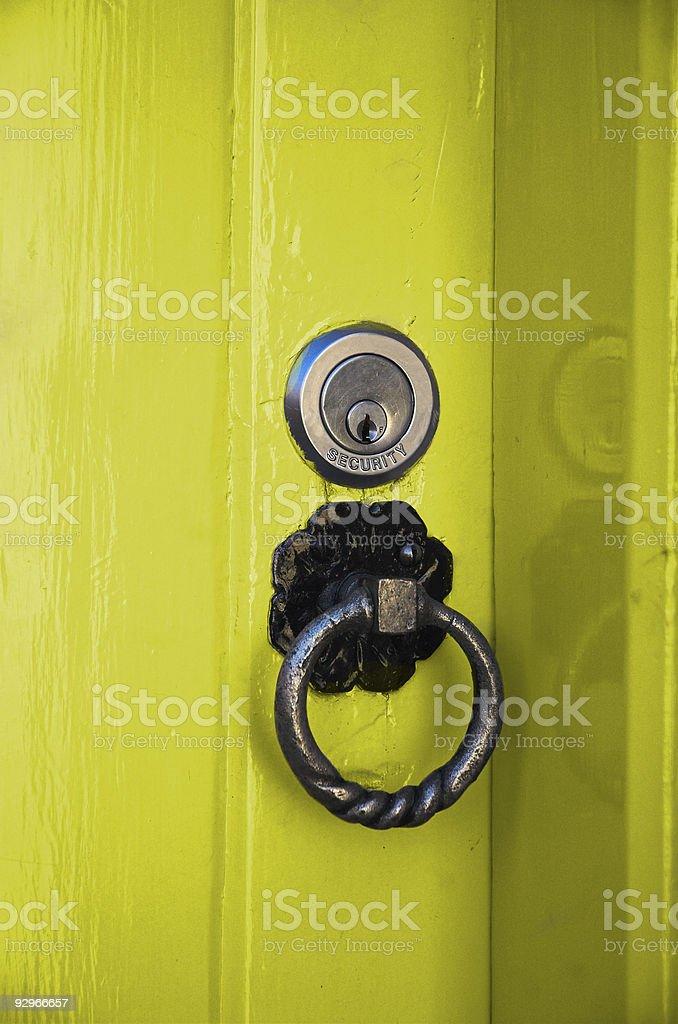The Yellow Door stock photo