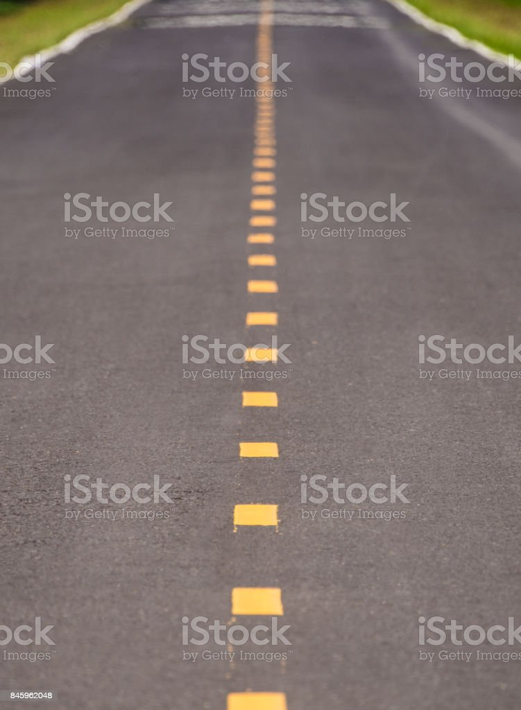 The Yellow Dotted Line stock photo