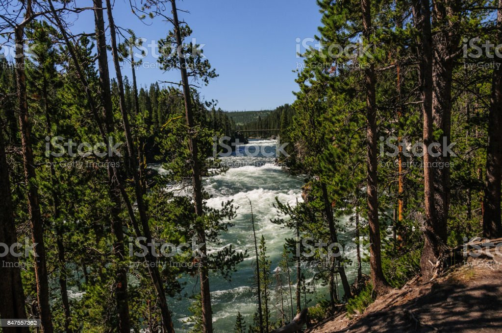 The Yellowstone River stock photo