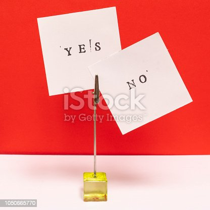 istock the yes and no words printed 1050665770