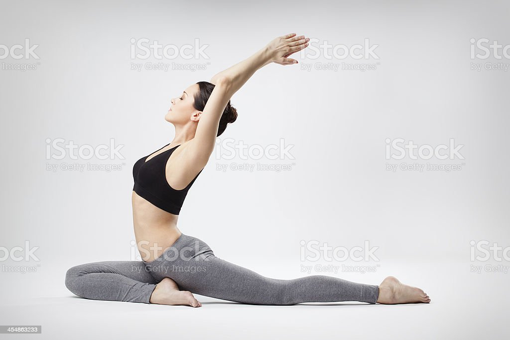 the yoga woman royalty-free stock photo
