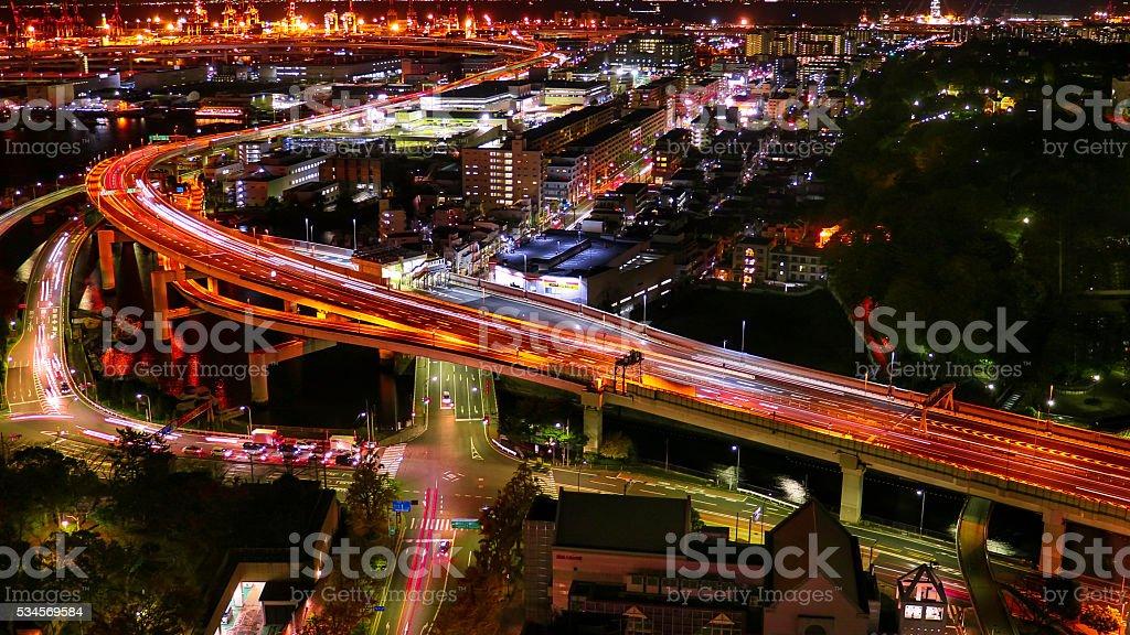 The Yokohama night view . stock photo