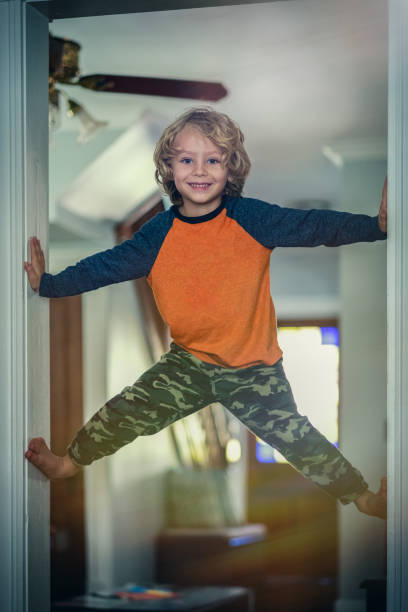 The Young Acrobat stock photo