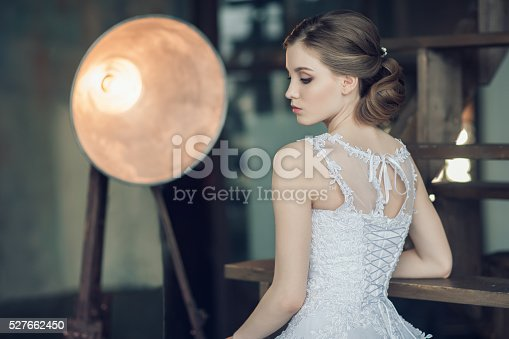 istock The young beautiful bride 527662450