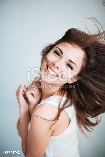 istock The  young girl happily laughs 466724740