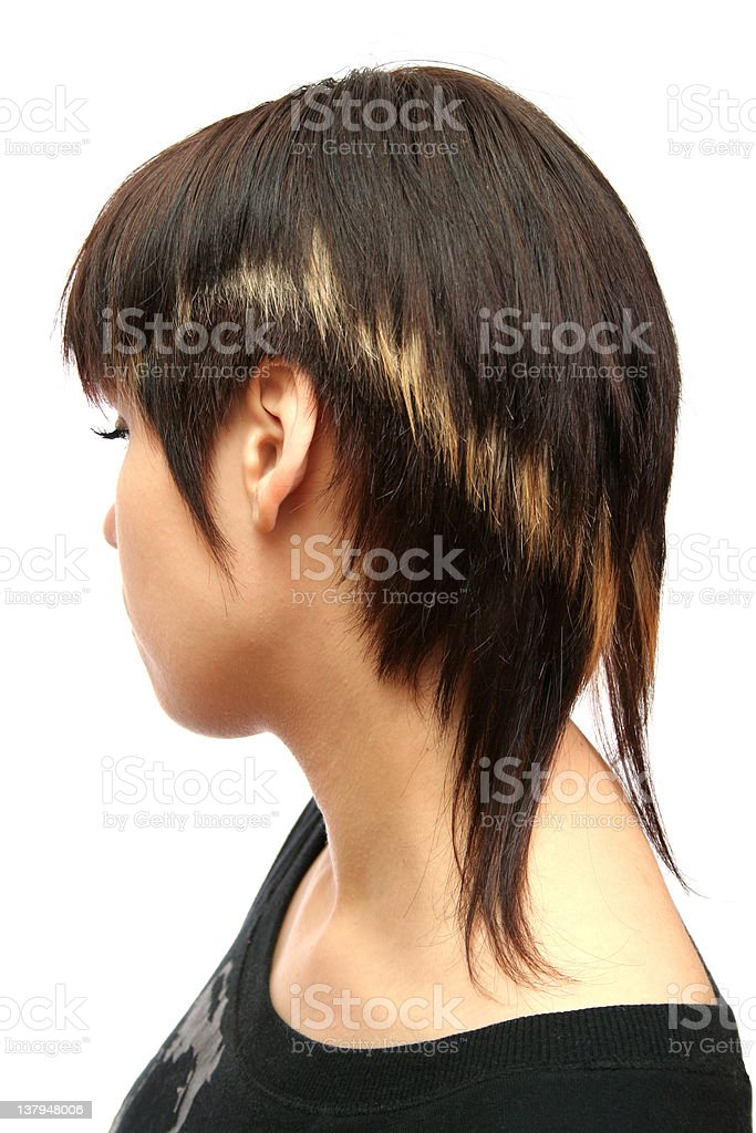 The young girl with a fashionable hairdress royalty-free stock photo