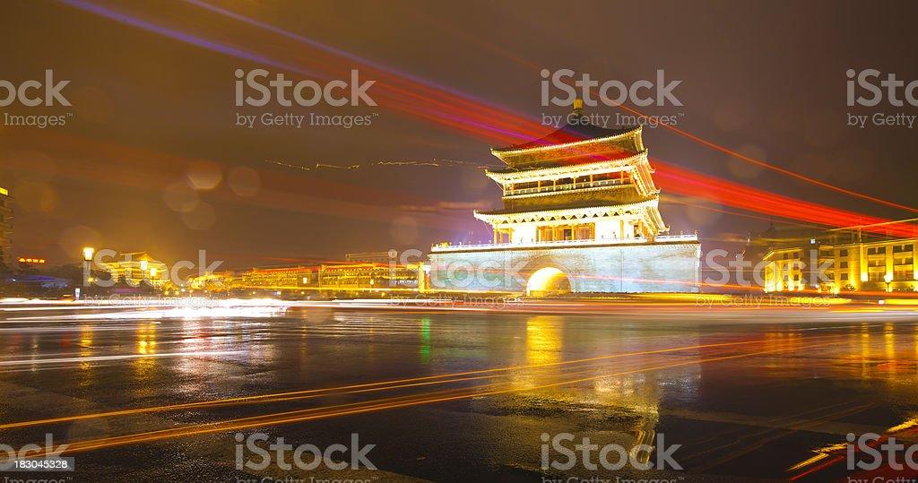 The Zhong Lou,xi'an royalty-free stock photo