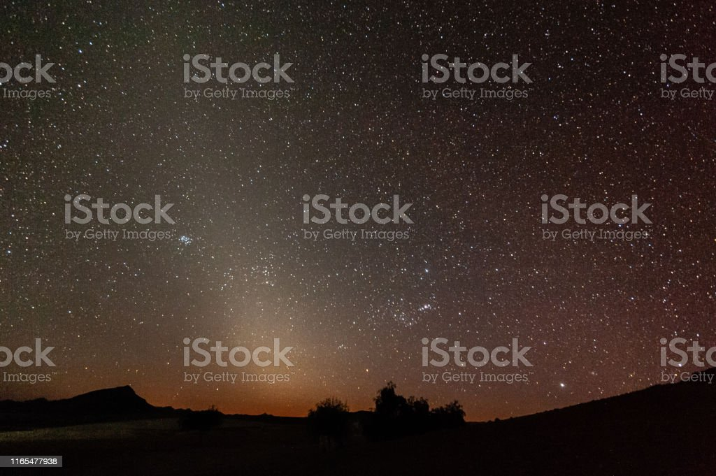 The Zodiacal light at dawn - Foto stock royalty-free di Astratto