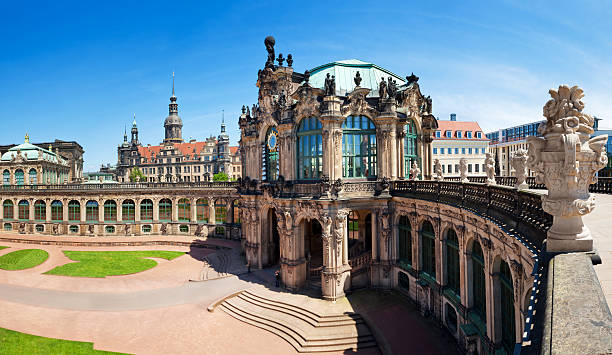 The Zwinger, Dresden Panorama of the famous Zwinger in Dresden, Germany. Need more: zwanger stock pictures, royalty-free photos & images