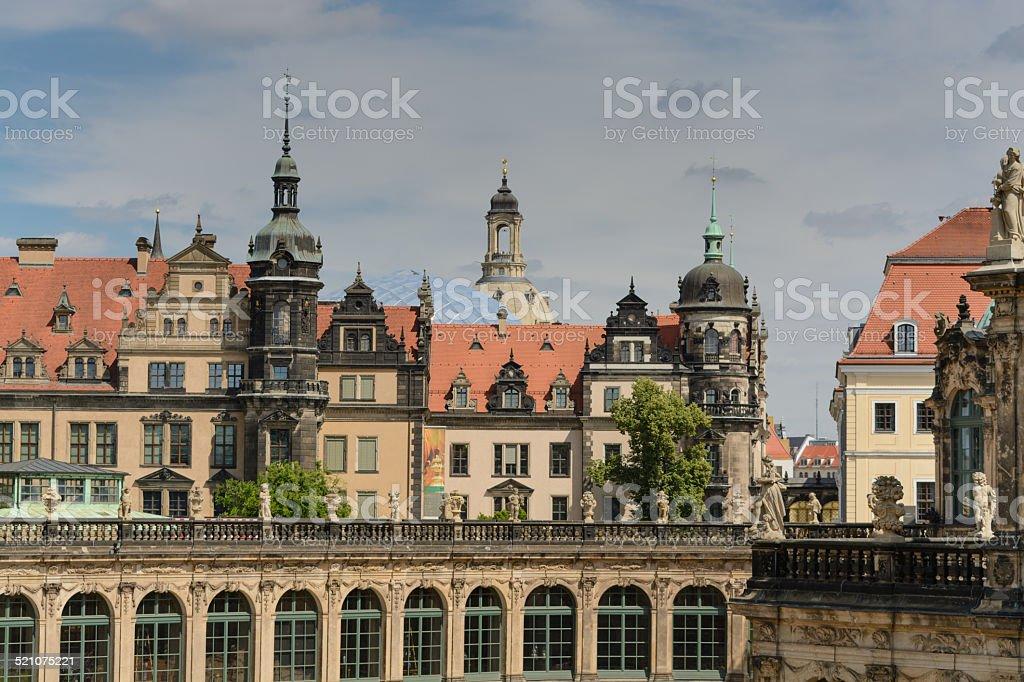 Zwinger palace em Dresden - foto de acervo