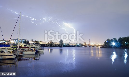 656192770istockphoto Thea Foss Waterway Tacoma Washington Lightning Strike Thunderstorm 807062688