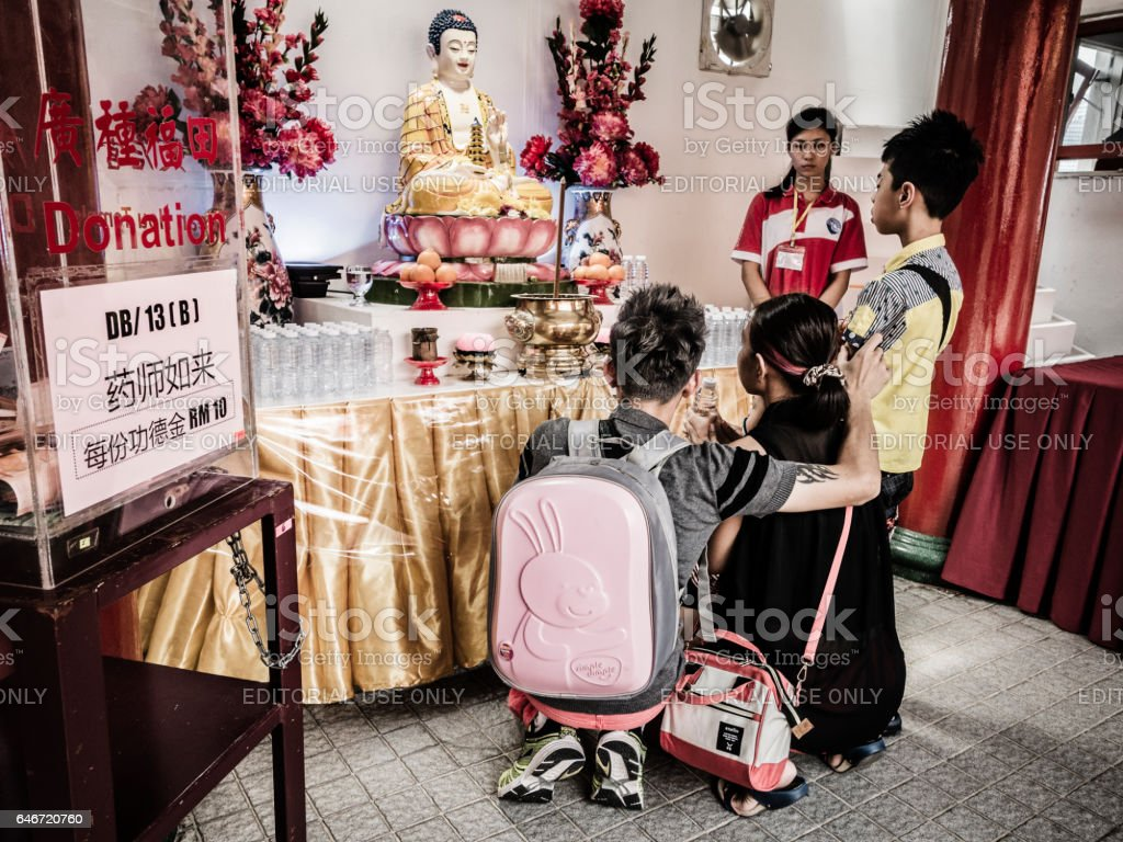 Templo Thean Hou em Kuala Lumpur Malásia - foto de acervo