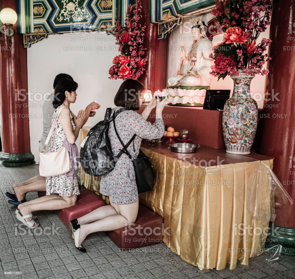 Thean Hou temple Kuala Lumpur Malásia - foto de acervo