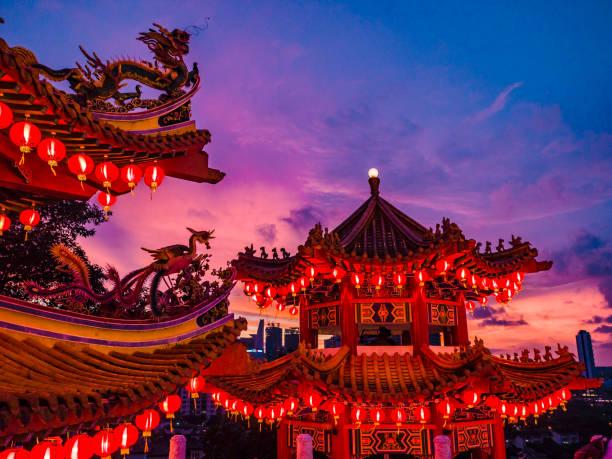 thean hou temple kuala lumpur malaysia - festival delle lanterne cinesi foto e immagini stock