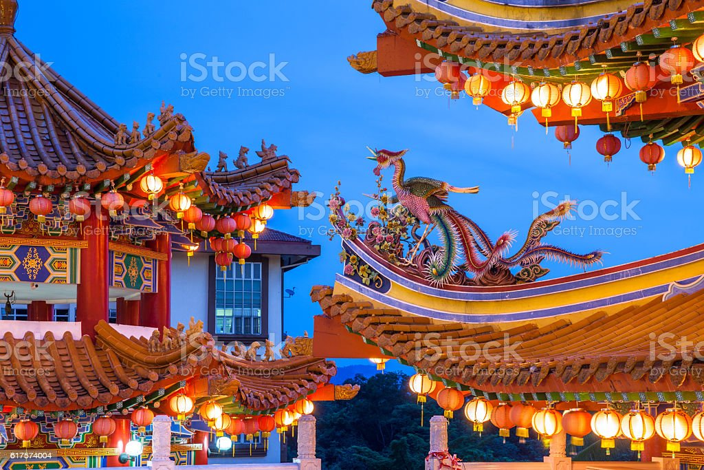 Thean Hou Temple on the Mid-Autumn Festival, Kuala Lumpur stock photo
