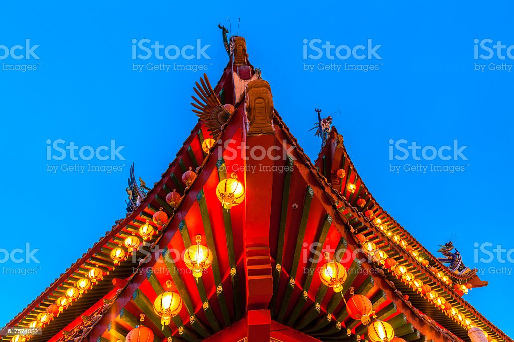 Thean Hou Temple on the Mid-Autumn Festival, Kuala Lumpur royalty-free stock photo