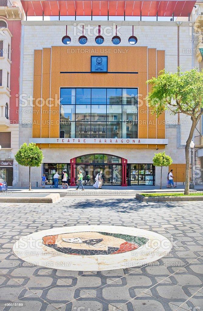 Theate Teatre Tarragona in mediterranean town Tarragona royalty-free stock photo