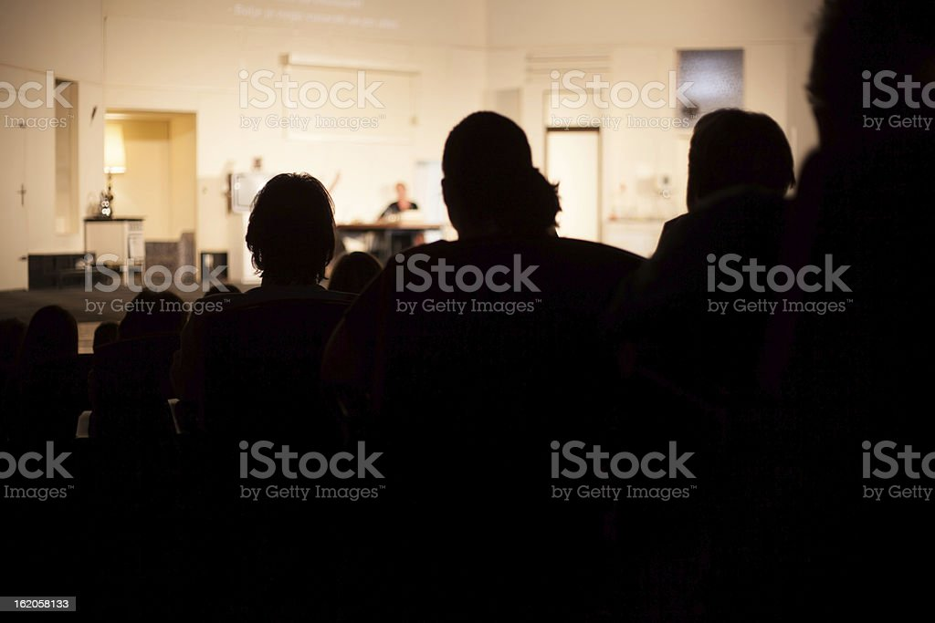 theater audience royalty-free stock photo