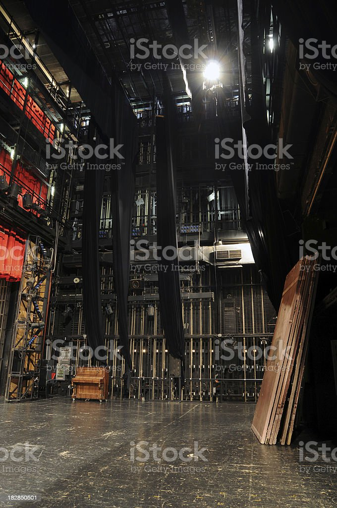 Theater backstage stock photo