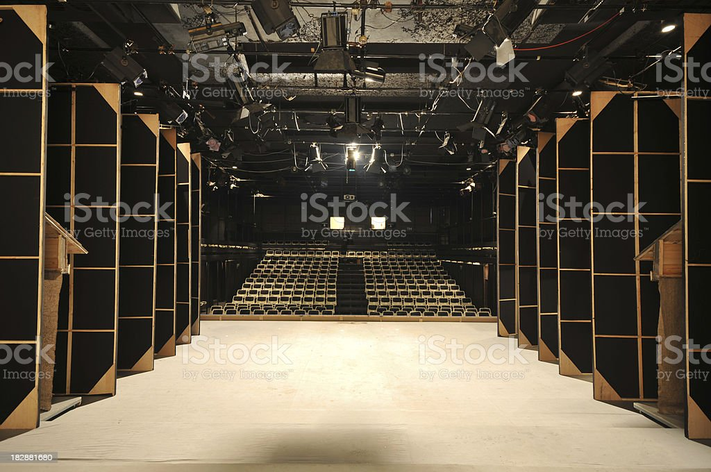 Theater backstage royalty-free stock photo