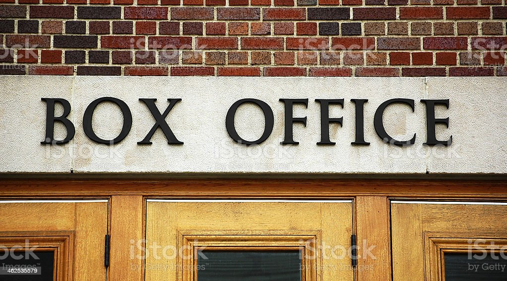 Theater box office sign stock photo