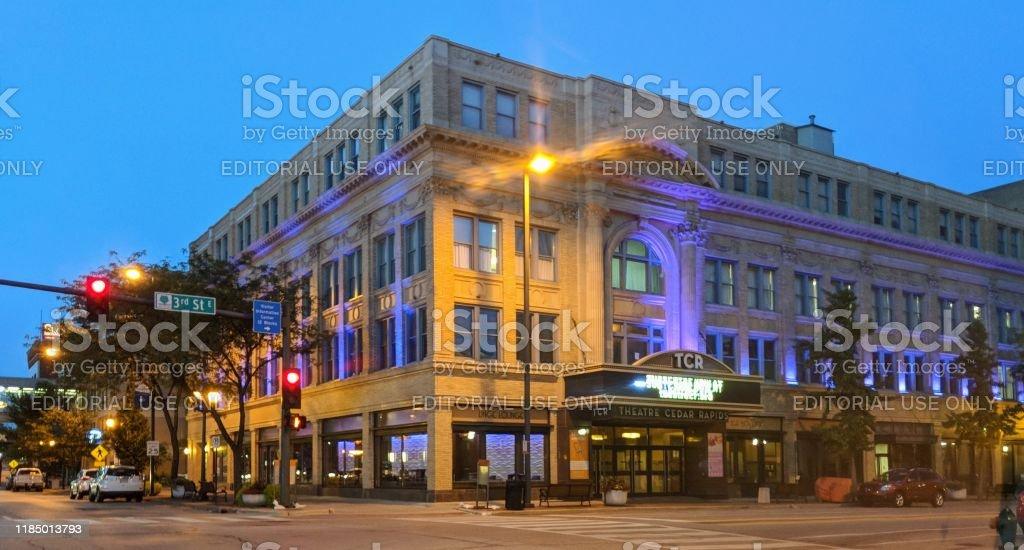 Theater Cedar Rapids In Cedar Rapids Iowa July 23 2018 Stock Photo Download Image Now