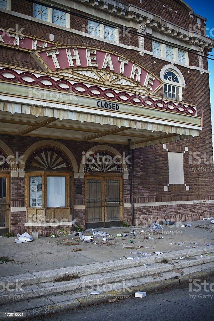 Theater Closed stock photo