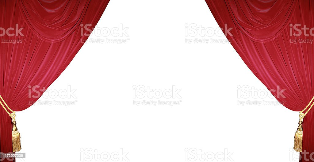 Theater curtain background royalty-free stock photo