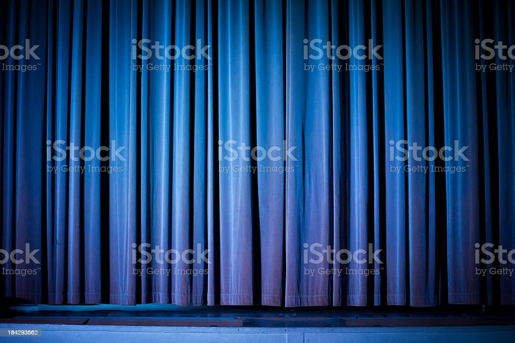 Theater Curtain Background stock photo