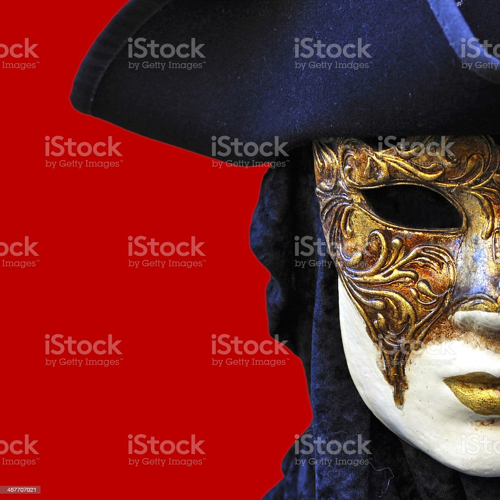 Theater Half Mask stock photo