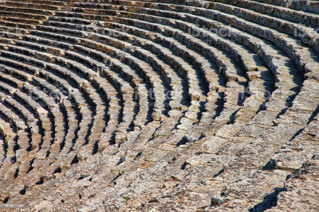 theater in ancient Hierapolis, Turkey royalty-free stock photo