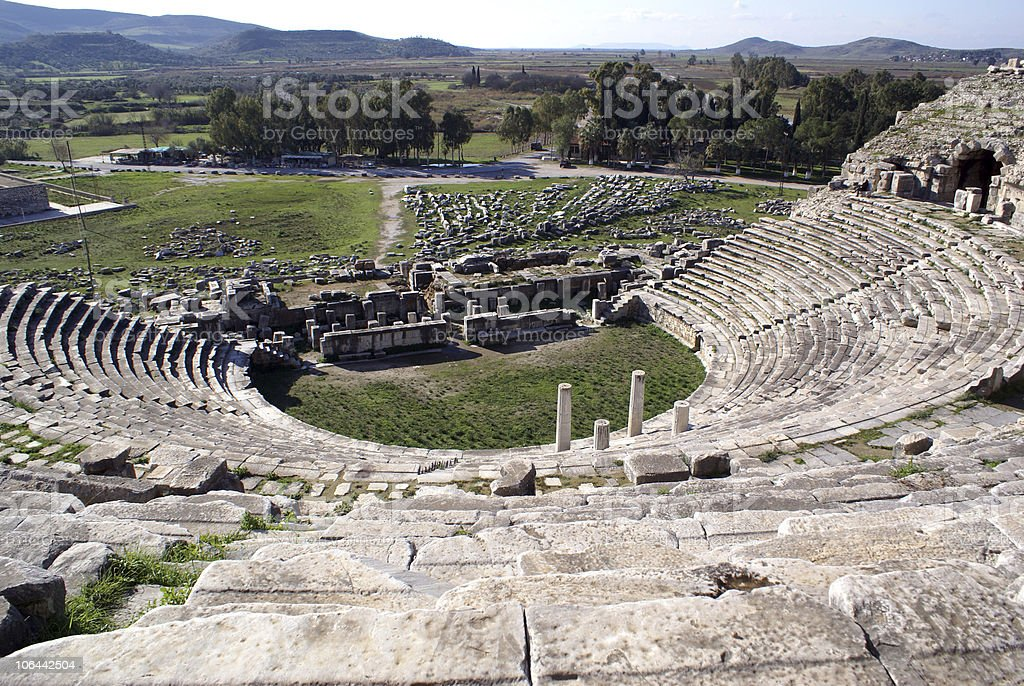Theater in Miletus royalty-free stock photo