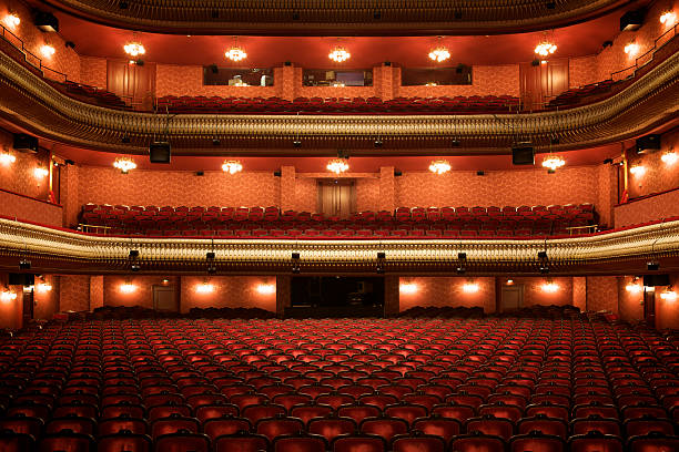 Theater interior: empty classical theater​​​ foto