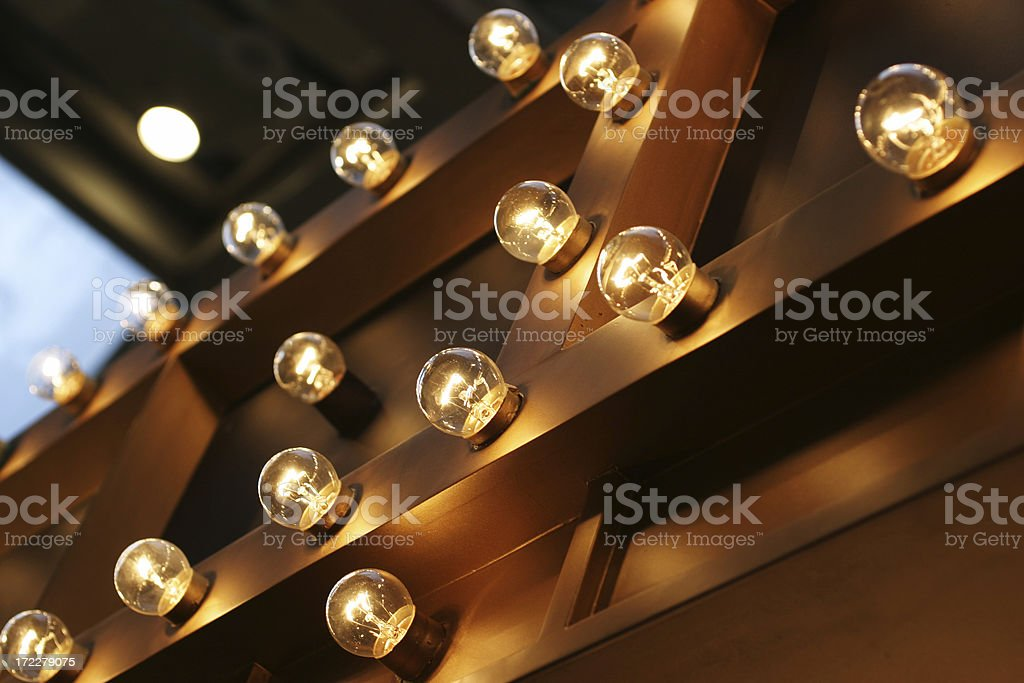 Theater Lights stock photo