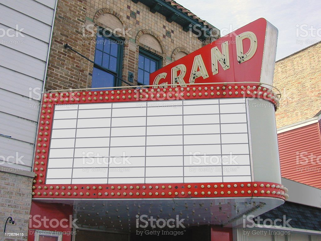 Theater Marquee Blank stock photo