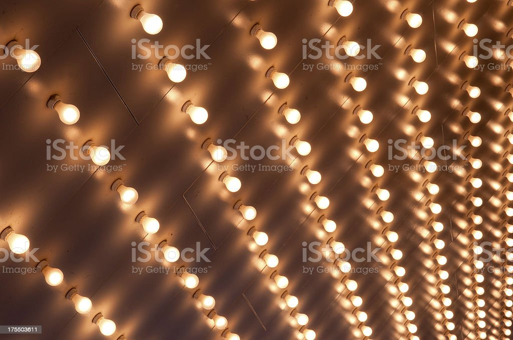 Theater Marquee Lights stock photo