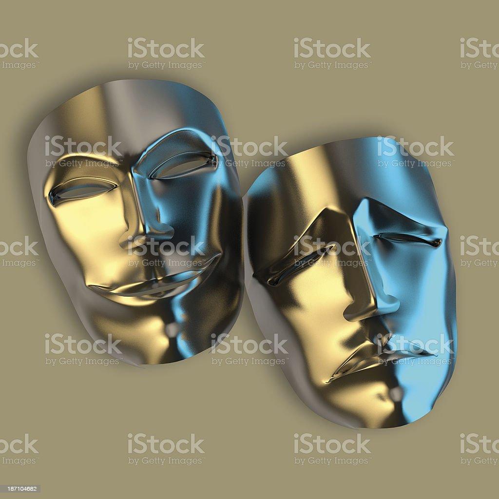 Theater Mask stock photo