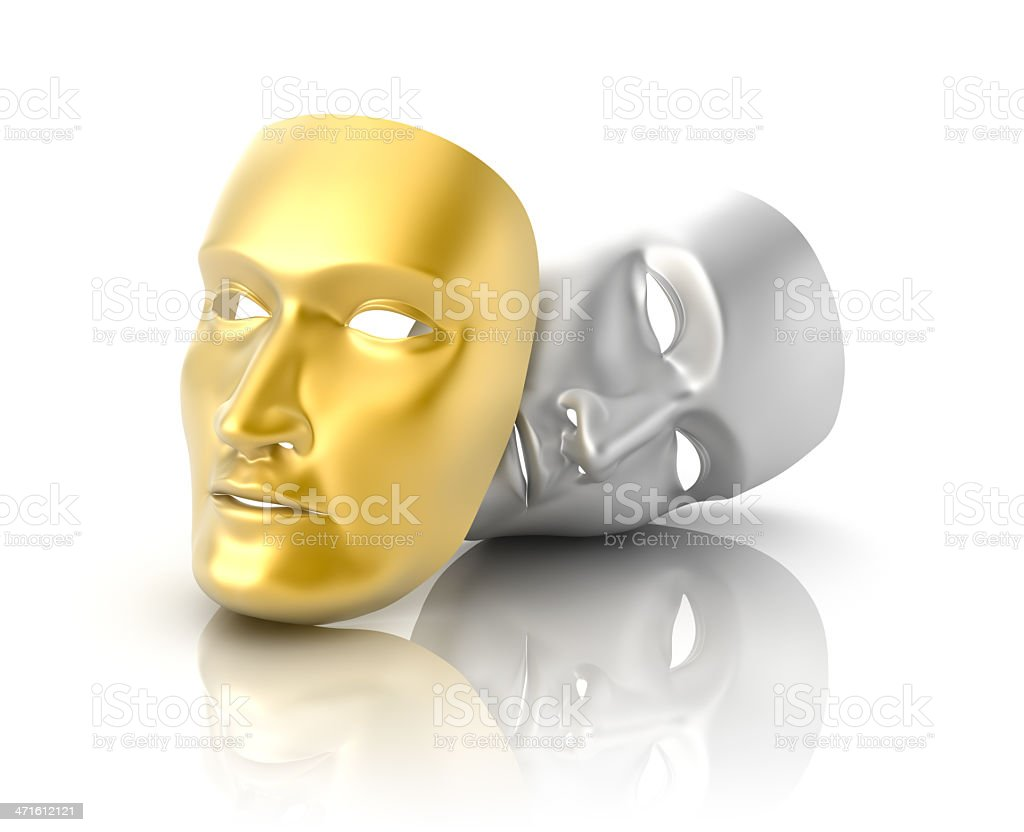 Theater masks concept. stock photo