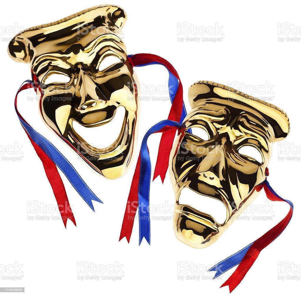 Theater Masks Isolated stock photo