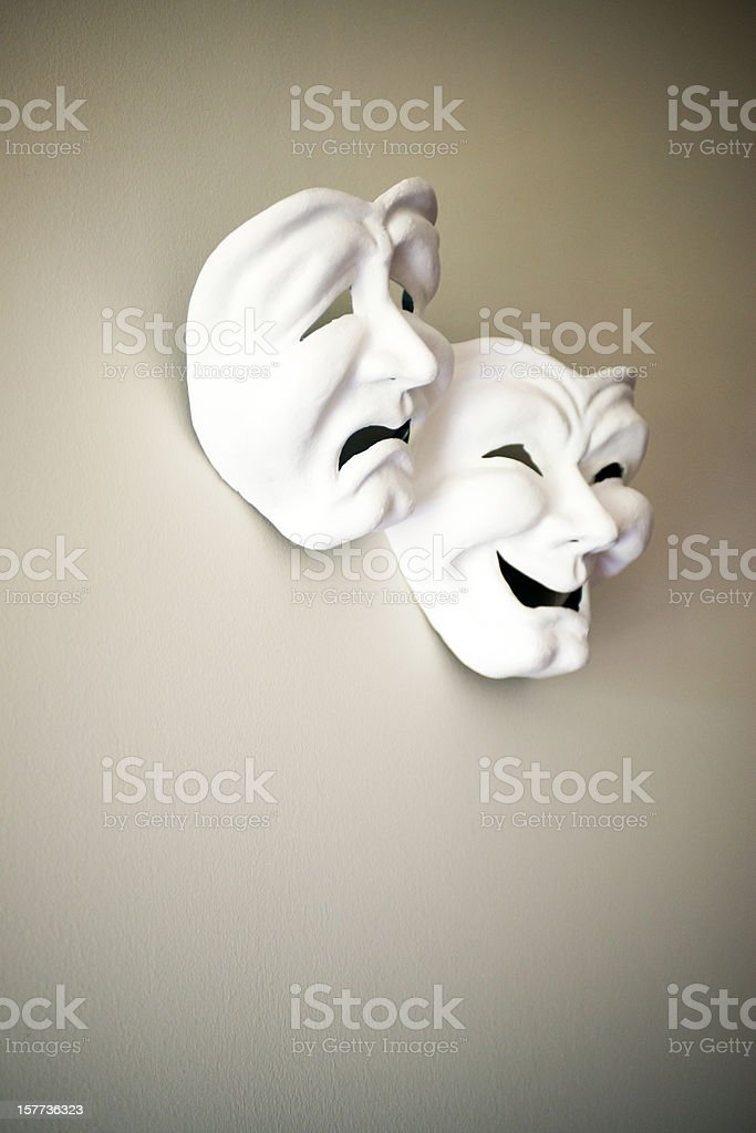 theater masks royalty-free stock photo