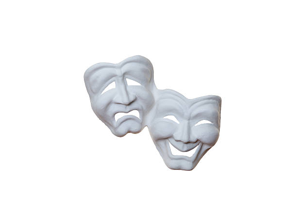 theater masks stock photo