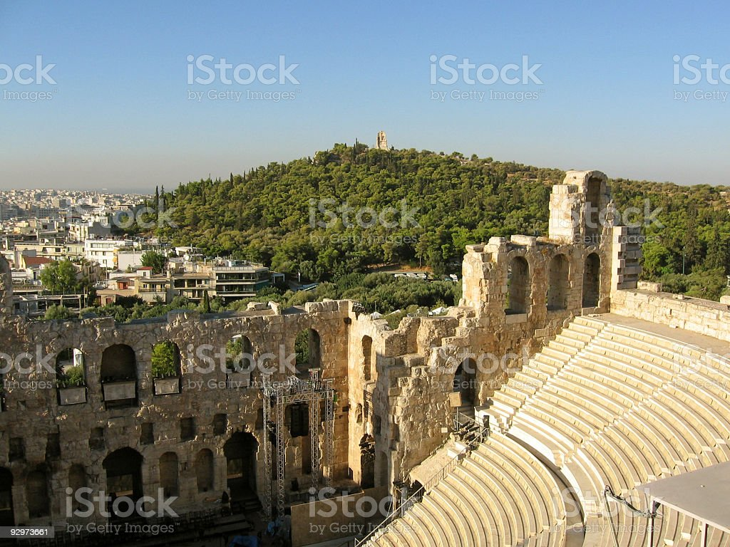 Theater Of Herodes Atticus 2 stock photo