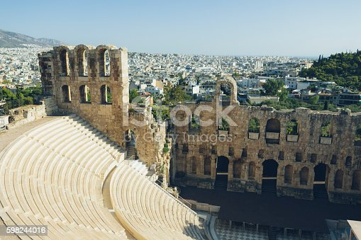 istock Theater Of Herodes Atticus over Acropolis in Athens 598244016